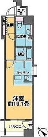カスタリア銀座Ⅲ / 1K(32.12㎡) 部屋画像1
