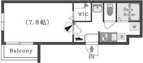 クリスタルコート上池台 / Bタイプ(25.17㎡) 部屋画像1