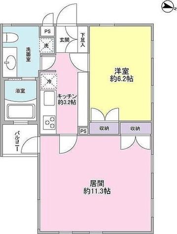 中野nine's core / 1LDK(44.69㎡) 部屋画像1