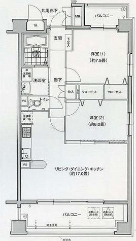 グラン・アベニュー名駅南 / 2LDK(66.57㎡) 部屋画像1
