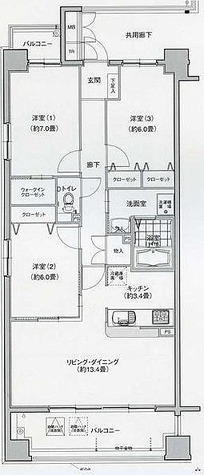 グラン・アベニュー名駅南 / 3LDK(80.00㎡) 部屋画像1