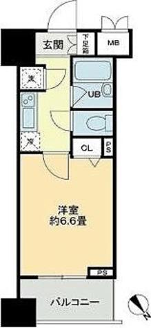 ベルファース蒲田 / Bタイプ(21.53㎡) 部屋画像1