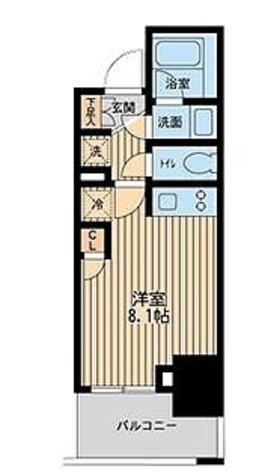 レジディア川崎 / ワンルーム(22.85㎡) 部屋画像1