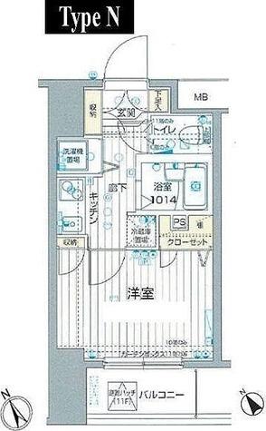 フォレシティ六本木 / 1K(20.25㎡) 部屋画像1