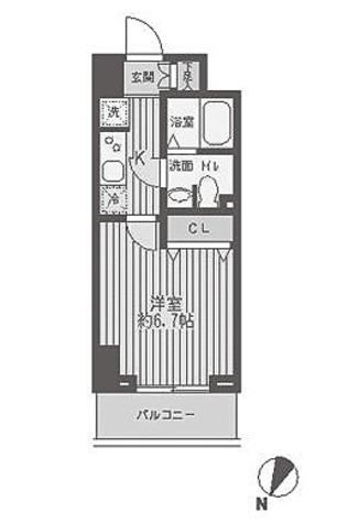 レジディア蒲田 / 1K(22.39㎡) 部屋画像1