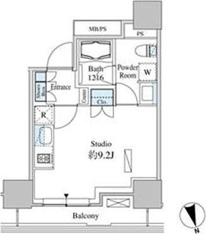 ベルファース芝浦タワー / 1R'(25.02㎡) 部屋画像1