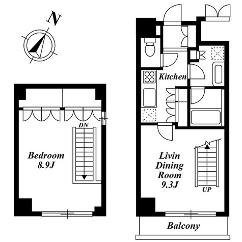 アパートメンツ都立大学 (八雲2) / 1DK(53.22㎡) 部屋画像1
