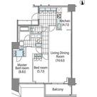 パークハビオ新宿イーストサイドタワー / 2LDK(84.75㎡) 部屋画像1