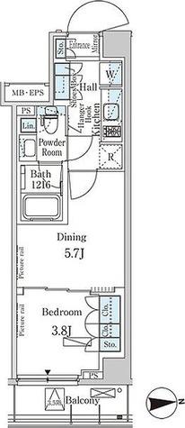 パークアクシス市谷加賀町 / 1DK(30.52㎡) 部屋画像1