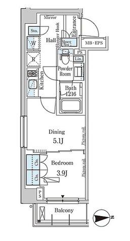 パークアクシス市谷加賀町 / 1DK(32.68㎡) 部屋画像1