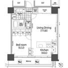 パークハビオ赤坂タワー / 1LDK(53.99㎡) 部屋画像1