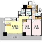 カスタリアタワー長堀橋 / 2LDK(57.17㎡) 部屋画像1