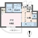 ウインベルデュエット恵比寿第2 / 1K(24.49㎡) 部屋画像1