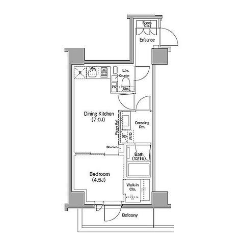 ザ・パークハビオ目黒フォート / 1DK(33.25㎡) 部屋画像1
