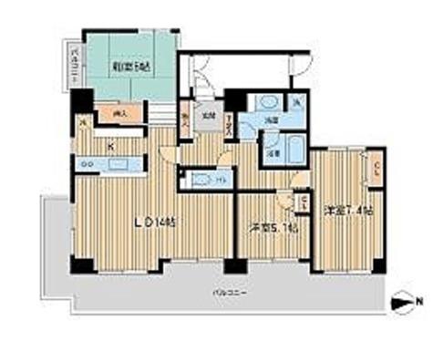 芝公園アパートメント / 3LDK(84.2㎡) 部屋画像1