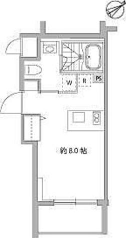 麻布十番Ⅱプロジェクト / Cタイプ(20.88㎡) 部屋画像1