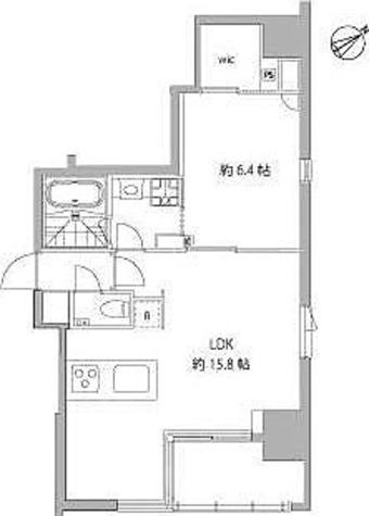 麻布十番Ⅱプロジェクト / Fタイプ(51.84㎡) 部屋画像1