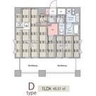 アルテシモストーリア / Dタイプ(45.57㎡) 部屋画像1
