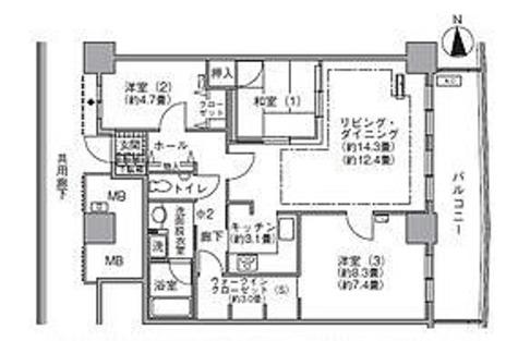 ラ・トゥール汐留 / 3SLDK(86㎡) 部屋画像1