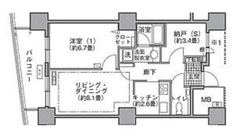 ラ・トゥール汐留 / 1SLDK(51.39㎡) 部屋画像1