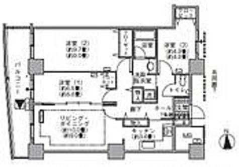 ラ・トゥール汐留 / 3LDK(86.14㎡) 部屋画像1