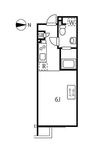 ALERO自由が丘 / ワンルーム(24.51㎡) 部屋画像1