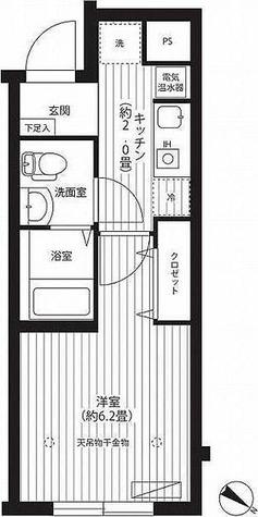 イーリス江古田 / 1K(22.35㎡) 部屋画像1