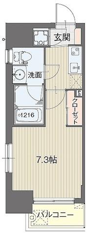 ライブコート泉 / Dタイプ(24.37㎡) 部屋画像1