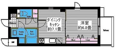 レジディア高岳 / Mタイプ(36.76㎡) 部屋画像1