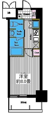 レジディア高岳 / Fタイプ(26.12㎡) 部屋画像1