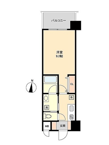 レジデンシア名駅南 / Bタイプ(29.45㎡) 部屋画像1