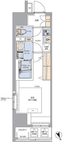 トラディティオ門前仲町 / 1K(25.23㎡) 部屋画像1