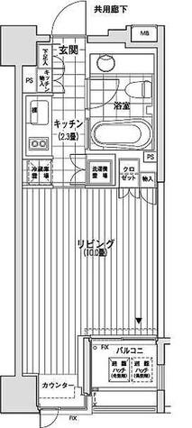 カスタリア銀座(旧イプセギンザ) / 1K(29.57㎡) 部屋画像1