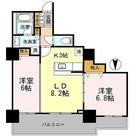 カスタリアタワー長堀橋 / 2LDK(55.09㎡) 部屋画像1