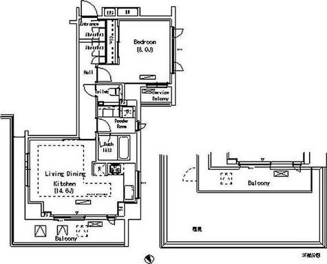 パークアクシス代官山(Park Axis 代官山) / 1LDK(58.77㎡) 部屋画像1