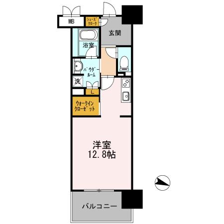 ロイヤルパークスERささしま / E-1R(37.24㎡) 部屋画像1