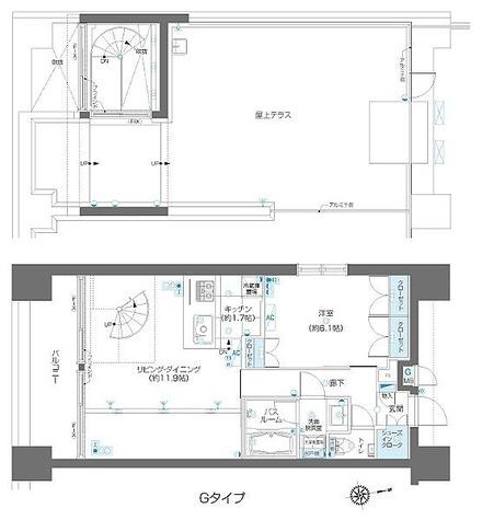 ズーム麻布十番 / 1LDK(54.9㎡) 部屋画像1