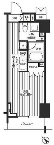 レジディア渋谷 / ワンルーム(26.02㎡) 部屋画像1