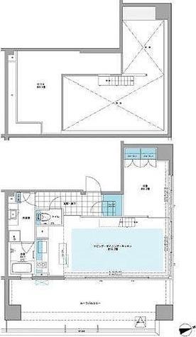 プライムアーバン芝浦LOFT(旧アーバンステージ芝浦LOFT・Cove Shibaura LOFT) / Eタイプ(50.20㎡) 部屋画像1