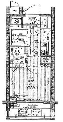 浜町 5分マンション / 5階 部屋画像1