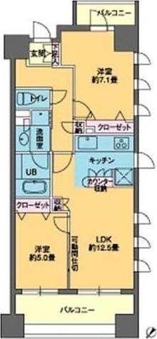 パークキューブ日本橋水天宮 / 2LDK(58.00㎡) 部屋画像1