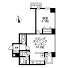 レジディアタワー麻布十番 / 1LDK(56.45㎡) 部屋画像1