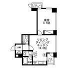 レジディアタワー麻布十番 / 1LDK(56.27㎡) 部屋画像1