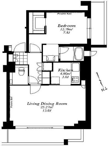 フレンシア外苑西 / 1LDK(64.48㎡) 部屋画像1
