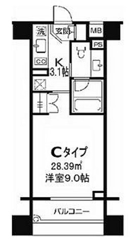 コスモグラシア両国 / 1K(28.39㎡) 部屋画像1