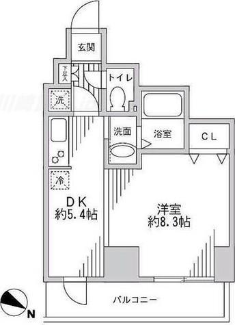 レジディア蒲田 / 1DK(33.92㎡) 部屋画像1