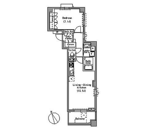 パークアクシス白壁 / 1LDK(49.33㎡) 部屋画像1