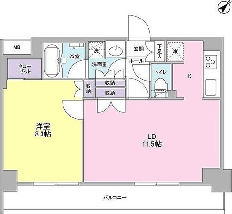 プラース千代田富士見 / 1LDK(49.53㎡) 部屋画像1
