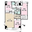 ディアナガーデン恵比寿 / 3LDK(95.82㎡) 部屋画像1