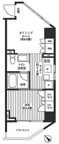 レジディア渋谷 / 2階 部屋画像1
